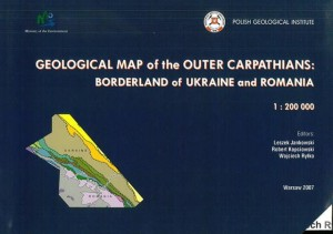 Geological map of the Outer Carpathians: borderland of Ukraine and Romania  1:200 000