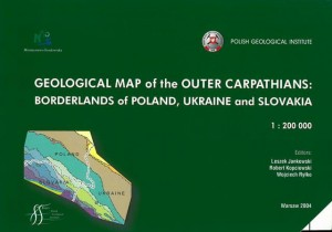 Geological map of the Outer Carpathians: borderlands of Poland, Ukraine and Slovakia  1:200 000